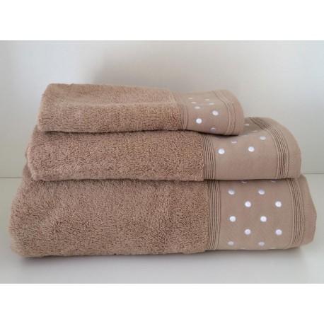 Juego de toallas de bodoques beige