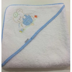 Capa de baño elefante bordado
