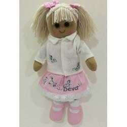 Muñeca de trapo con cardigan