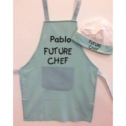 Delantal y gorro futuro chef
