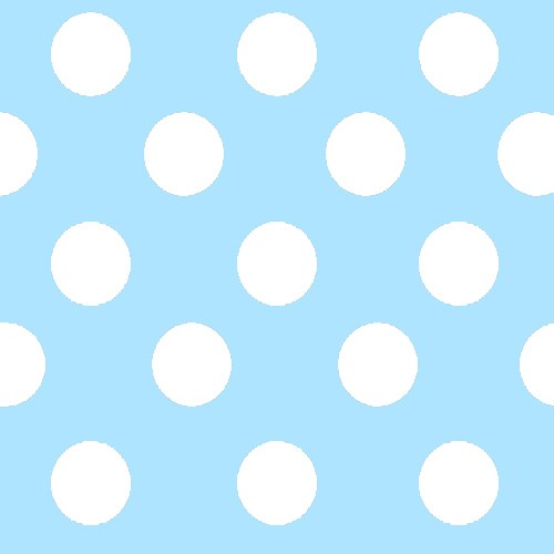 Azul con lunares blancos