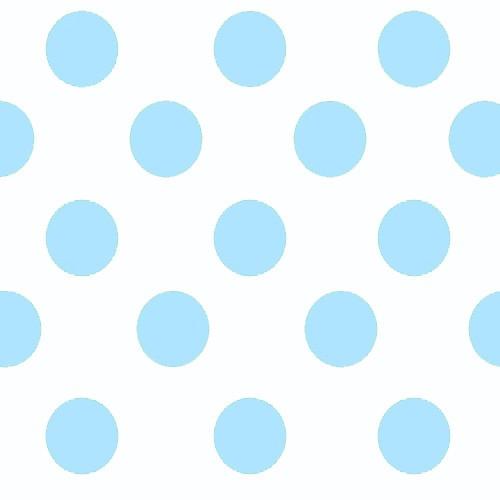 Blanco con lunares azules