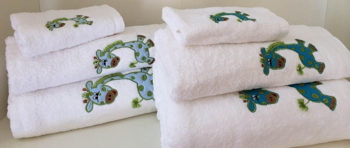 Juegos de toallas jirafa